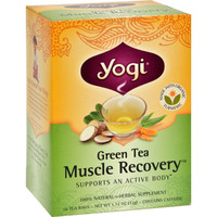 Yogi Muscle Recovery Herbal Tea Green Tea - 16 Tea Bags - Case Of 6