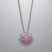 David Yurman | David Yurman Necklaces and Chains | Diamond and Infinity Necklaces for Women | Starburst Pendant with Light Pink Sapphires on Chain