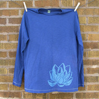 Womens Lotus Shirt Long Sleeve Cotton TShirt Lino by stolenmoments