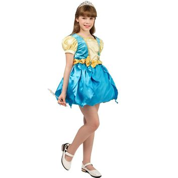 new girl's transformation dress costumes fancy dress carnival party cosplay halloween party kids girl transforming  dress