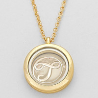 "Floating Monogram ""T"" Necklace GOLD"