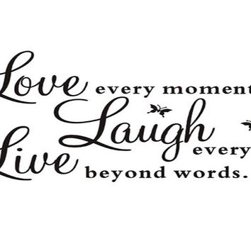 Live Laugh Love Quotes Removable DIY Wall Decals
