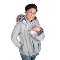 Brand New Fashion Baby Carrier Jacket Kangaroo Hoodies Winter Warm Outwear Maternity Hooded Pregnancy clothing Size S-2XL