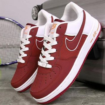 NIKE Running Sport Casual Shoes Women Men Sneakers Low tops shoes Red