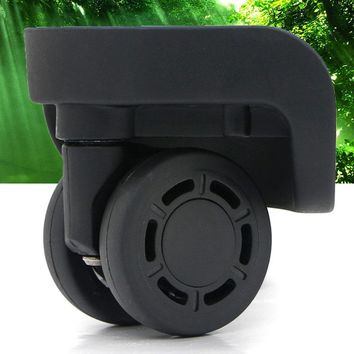 GUGULUZA Replacement Luggage Wheels Suitcase Repair Parts Accessory Spinner Universal Travel Trolley Bags Black Wheels W071