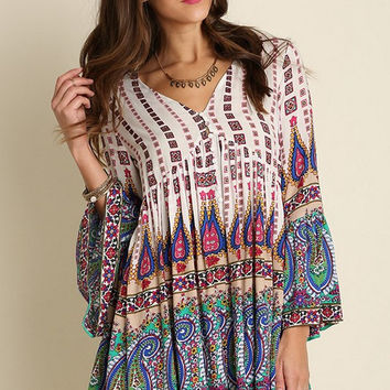 Perfect Paisley Tunic - Green
