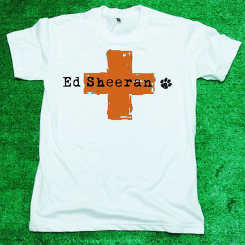 ED Sheeran  T Shirt Tee Shirt White by DarkTemplarStudio on Etsy