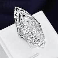 Promise Rings Fashion Jewelry Rings for Women Sterling Silver Rings Plated