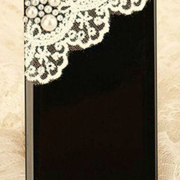 iPhone 5 Black Pearls and Lace case