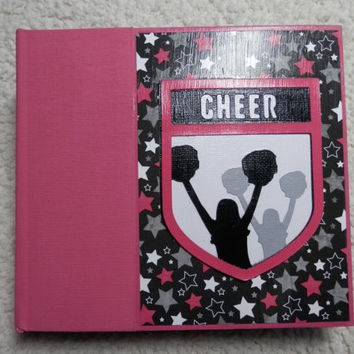 6x6 Cheer Scrapbook Photo Album in Pink