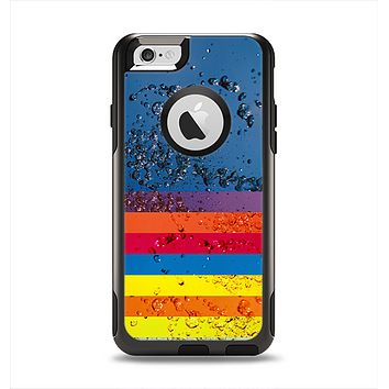The Rainbow Colored Water Stripes Apple iPhone 6 Otterbox Commuter Case Skin Set