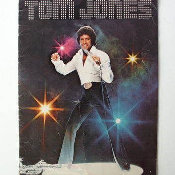 Vintage Tom Jones Souvenir Program, Early '70's