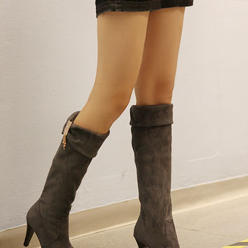 Rhinestone Knee High Boots Platform Elastic High Heels Shoes Woman 3298 3298