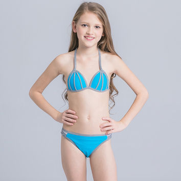 Children Swimwear Girls Swimwear Baby Kids Biquini Infantil Swimsuit Bikini Girl 2017 New Summer Bathing Suit CH004