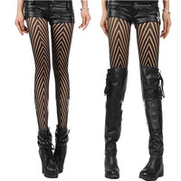 Striped Pattern Stripes Pants High Waist Pantyhose = 4799411268