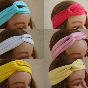 Turban Headband Turban Head Scarf Accessories Hair Headband Stretch Twisted Turban Headband - By PIYOYO
