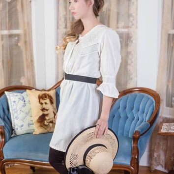April Cornell Prudence Tunic | Lace Trim Cotton Tunic