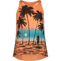 FULL TILT Beach Scene Girls Twist Back Tank