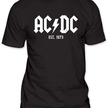 AC/DC Est. 1973 FITTED JERSEY TEE