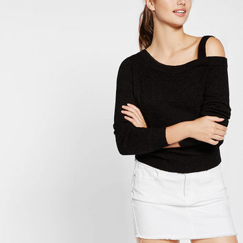 one shoulder pullover sweater