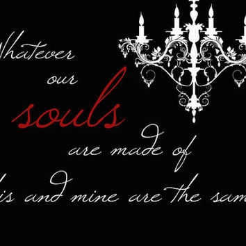 Emily Bronte Souls Typography Print by JaneAndCompanyDesign