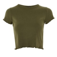 Short Sleeve Lettuce Plain T-Shirt - Clothing