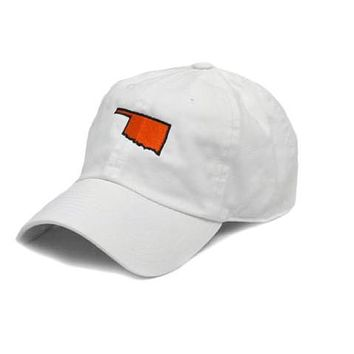 OK Stillwater Gameday Hat in White by State Traditions