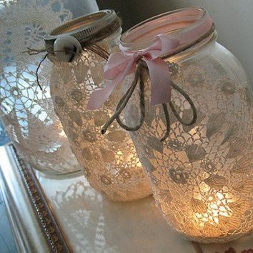 Mason Jars For Wedding Decorations...Rustic, Beautiful & Cheap!