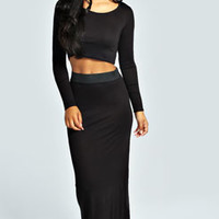 Tilly Long Sleeve Crop Top & Maxi Skirt Co-Ord Set