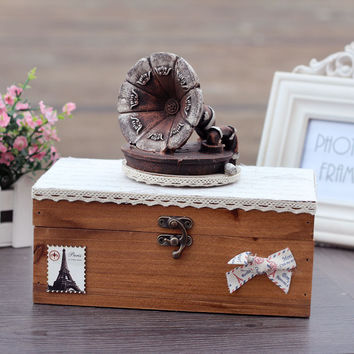 Lace Vintage Music Home Birthday Gifts Creative Accessory Box [6282791942]