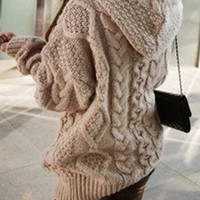 Knit Buttons Long Sleeve Cardigan Jacket Coat Knitwear
