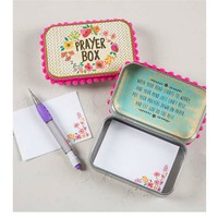 Natural Life Prayer Box - Pink Floral