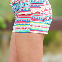 South Of The Border Shorts - Aztec