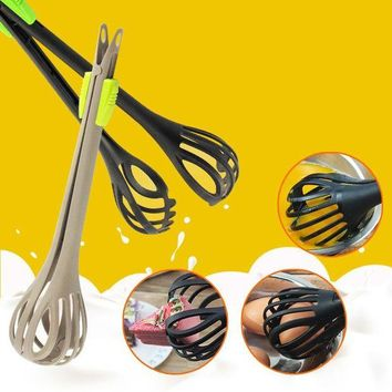 DCCKFS2 Multi-function Plastic Egg Beater Hand Blender Whisk Mixer Baking Cooking Tools Egg Bread Clip Kitchen Accessories C