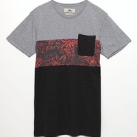 Rusty Cluster Pocket T-Shirt - Mens Tee - Black