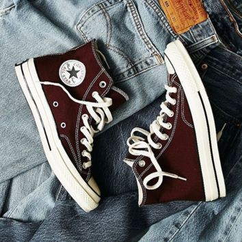 Converse All Star Sneakers Adult High-Top Leisure shoes Wine red