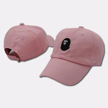 cc qiyif A Bathing Ape Pink Baseball Hat