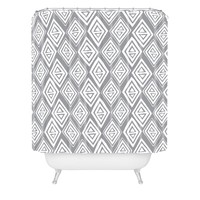 Heather Dutton Diamond In The Rough Grey Shower Curtain