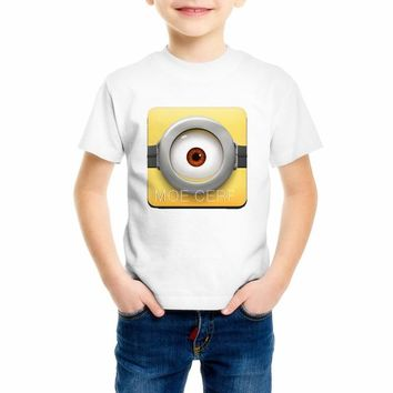 Minions funny t shirt boy/girl hot sale summer Despicable Me 2 cool kawaii t-shirt brand new cartoon minions t-shirt C18-41