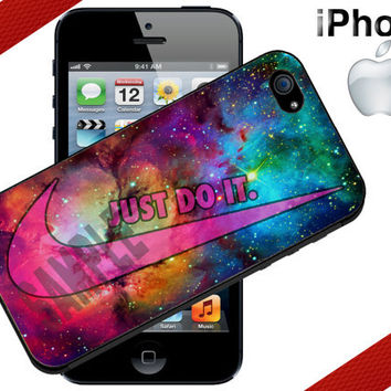 Nike Just Do It Galaxy Nebula iPhone Case  by CrazianDesigns