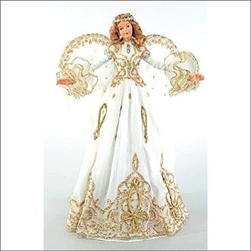 """Katherine's Collection White Angel Tree Topper Thread of Gold 18"""""""