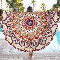 New Summer Large Shawl Round Beach Pool Home Shower Towel Beach Towels Bohemian Style Printed Round Beach Circle Towel 2016