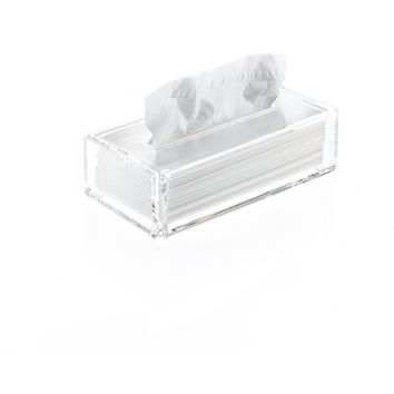 DWBA Tissue Box Holder Cover Tray Dispenser Tissue Case - Clear Acryllic