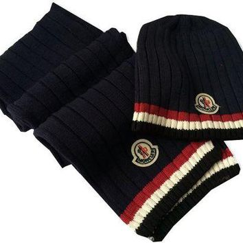fe35736af99d0 Fashion Casual Moncler Beanies Knit Winter Hat Cap Scarf Scarves