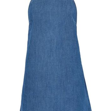 Open-back denim mini dress | 3x1 | Sale up to 70% off | THE OUTNET