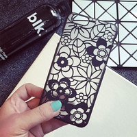 Black Lace iPhone 5s 6 6s Plus Case Cover + Nice Gift Box