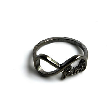 """Have Faith"" Infinity Symbol Ring"