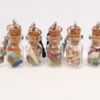 Beach Treasures Glass Vial Dust Plug
