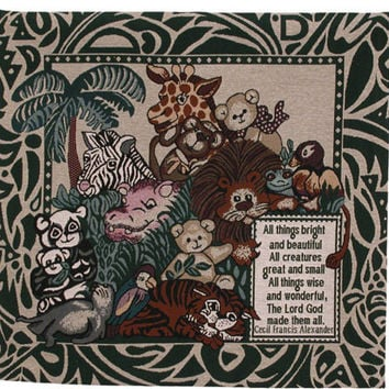 All Creatures Great and Small Tapestry Wall Art Hanging