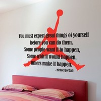 Michael Jordan Typographic Quote , 63 x 57.1 Inches | 160 x 145 cm